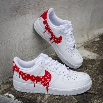 NEW Nike Air Force 1 LV Supreme Drip Sneakers