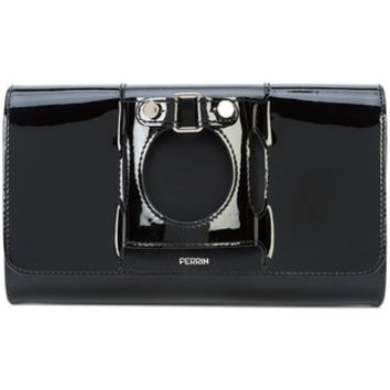 Perrin Paris Front Buckle Clutch Bag - Farfetch
