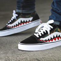 Custom Bape Shark Camo Vans