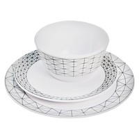 Room Essentials™ Thin Stripe Melamine 12-piece Dinnerware Set
