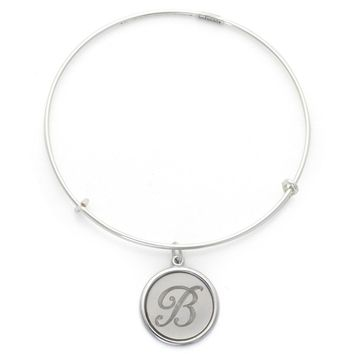 Alex and Ani Precious Initial B Charm Bangle - Argentium Silver