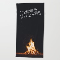 Drink That Wild Air Beach Towel by The Backwater Co