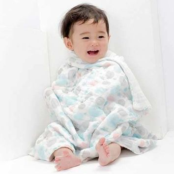 TUBENG Cute Baby Terry Bathing Wrap Robe Towel