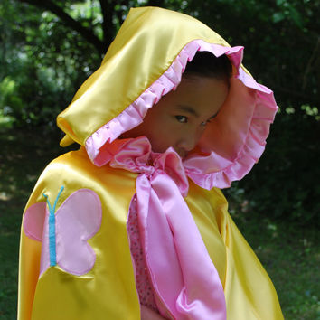 Girls  Yellow Hooded Cape, My Little Pony Inspired