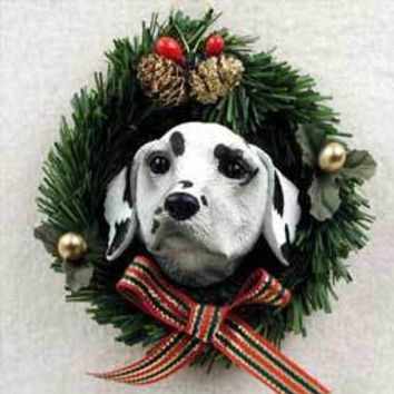 DALMATIAN WREATH ORNAMENT