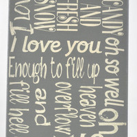 Love you oh so well - Dave Matthews Lyrics - Unique Canvas Art Typography, Wall Decor, Home, Dorm, Kids, Modern Art