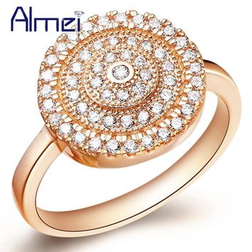 Sterling Silver Ring Vintage Rings for Women CZ Zircon Anel Feminino Gold Color Wedding Anelli Joyeria Crystal Bijoux J160