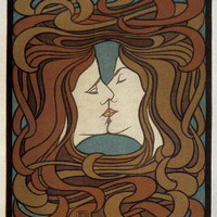 "Artwork of the Day: Peter Behrens' ""The Kiss"" 