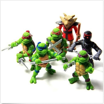6Pcs Teenage Mutant Ninja Turtles TMNT Action Figures Toy Set Classic Collection = 1946546820