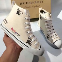 BURBERRY 2018 new trend casual canvas shoes sports shoes F-OMDP-GD