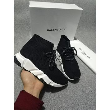 BALENCIAGA black fashionable socks shoes