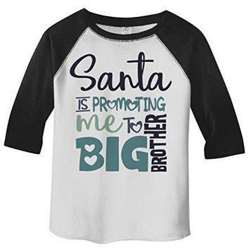 Shirts By Sarah Toddler Santa Promoting Big Brother Christmas T-Shirt Baby Reveal