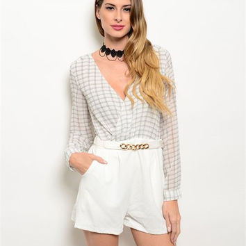 IVORY OPEN BACK ROMPER