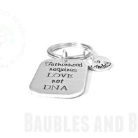 Personalized Step Dad Gift ~ Fatherhood Requires Love Not DNA
