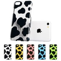 iPhone 5C Case, ESR Animal Kingdom Series Hard Clear Back Cover Snap on Case for iPhone 5C (Cow)