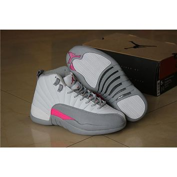 Original Air Jordan 12 Retro women Vivid Pink