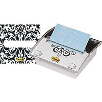 "Post-it® 3"" x 3\"" Designer Series Pop-Up Note Dispenser with Brocade Insert, Each 