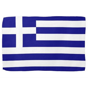 Kitchen towel with Flag of Greece