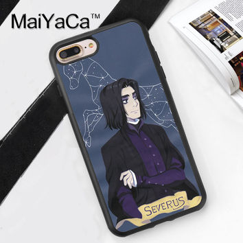 Severus Harry Potter Style Soft TPU Case for iPhone 7 7Plus for iPhone 6 6S Plus 5 5S 5C SE 4S Soft Rubber Phone Back Cover