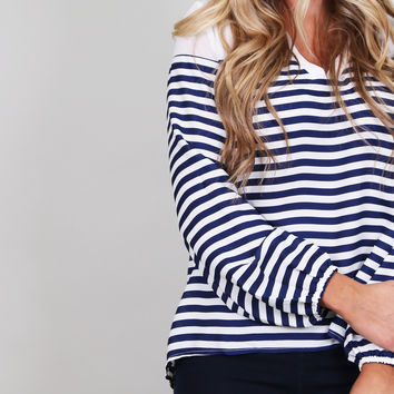 Vintage Savannah Tunic {Navy}