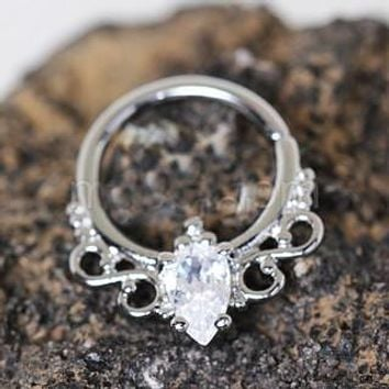 316L Stainless Steel Made for Royalty Annealed Ornate Seamless Ring / Septum Ring