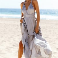 Mind And Memory Maxi Dress Silver