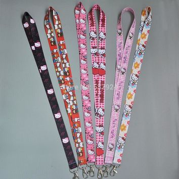 New Hello Kitty Key ID Card Cell Phone Neck Strap Lanyard-CPPY