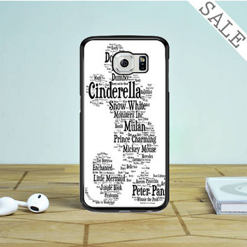 Disney Words Collage Samsung Galaxy S6 Edge Case