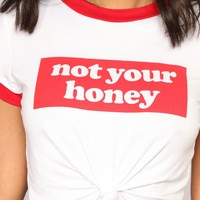 No Money No Honey Tee - Ivory