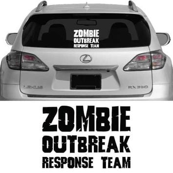 Zombie Outbreak Response Team No1  Vehicle Decal Car by wallstickz