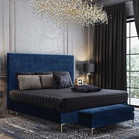 Delilah Textured Velvet Bed in King