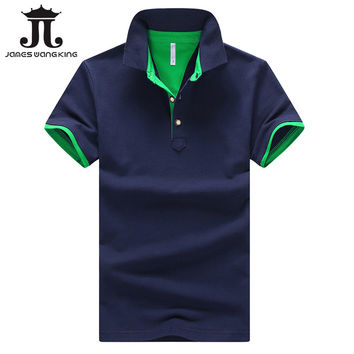 Dark Blue/Green 2017 Summer Mens Polo Shirt 95% cotton size M-4XL