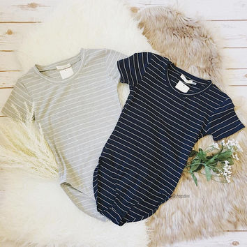 Navy Striped Tee Bodysuit