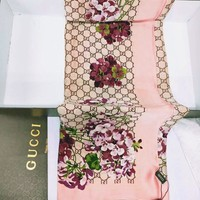 GUCCI Tide brand classic double G printing velvet long shawl scarf