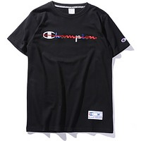 Champion Classic Logo Color Embroidered Champion T-Shirt F0233-1 Black