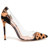 Gianvito Rossi Pointed Pony-skin And Perspex Pumps - Browns - Farfetch.com