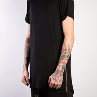 BASIC EXTENDED SIDE ZIPPER SHIRT - A Very Based You