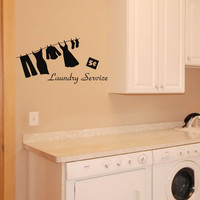 Laundry Service - Laundry Room wall decal