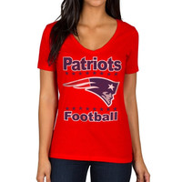 New England Patriots Women's Audible T-Shirt – Red