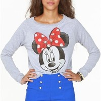A'GACI Minnie Dots Sweatshirt - SWEATERS