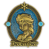 Elsa Cameo Birthstone Pin -- December