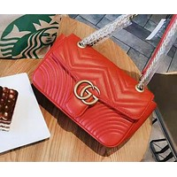 Gucci Fashion New Casual Joker Chain Bag Crossbody Shoulder Bag