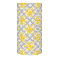 Yellow, white snowflakes pattern modern Christmas Flameless Candle