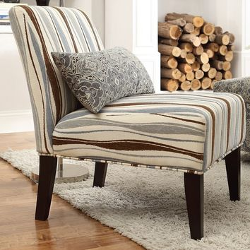 INSPIRE Q Peterson Vertical Wavy Stripe Slipper Chair | Overstock.com Shopping - The Best Deals on Living Room Chairs