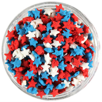 Mini RWB Star Sprinkles