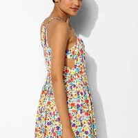 MINKPINK Wildflower Patch Cutout Dress- Yellow