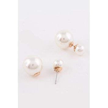 Pearl Double-Sided Earrings (As seen in Good Housekeeping Magazine)