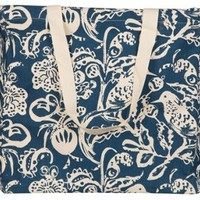 Toile Navy Laundry Tote, Laundry Bags