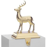 Golden Holidays Reindeer Stocking Holder by Lenox