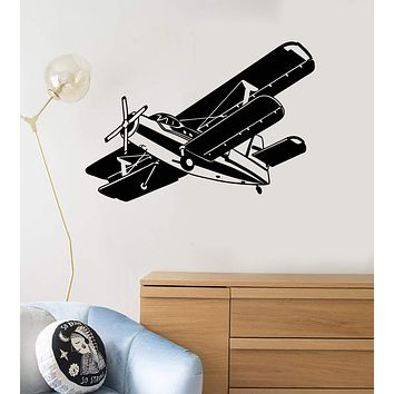 Vinyl Wall Decal Airplane Kids Boy Room Gift for Son Child Art Stickers Mural Unique Gift (ig5078)